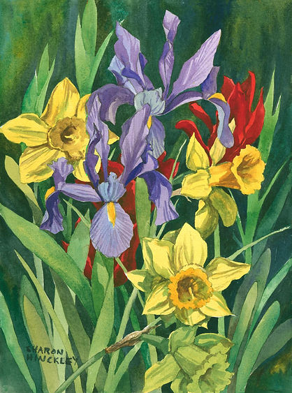 Hinckley Laughing Flowers 22x18 wc $497.