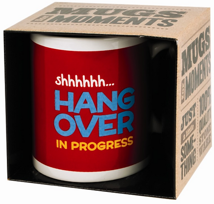 Hang Over Novelty Gift Boxed Mug