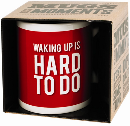 Waking Up Novelty Gift Boxed Mug