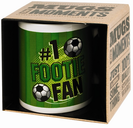 Footie Fan Novelty Gift Boxed Mug