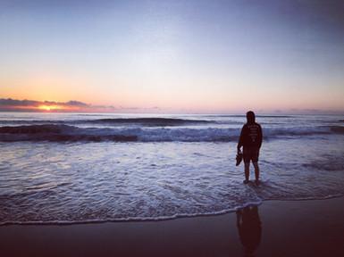 Sunrise at New Brighton Beach
