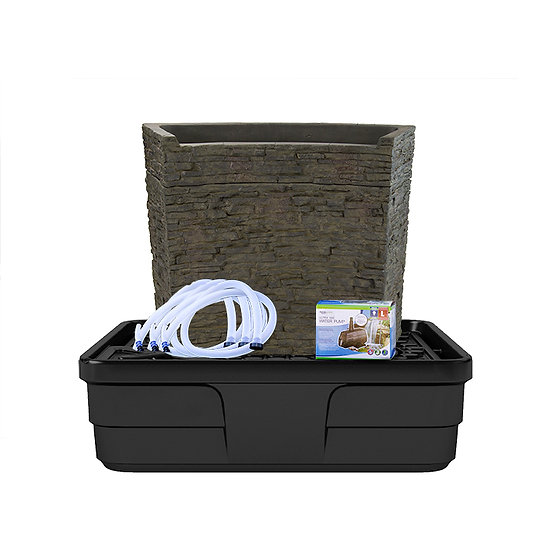 Stacked Slate Spillway Wall 32″ Landscape Fountain Kit