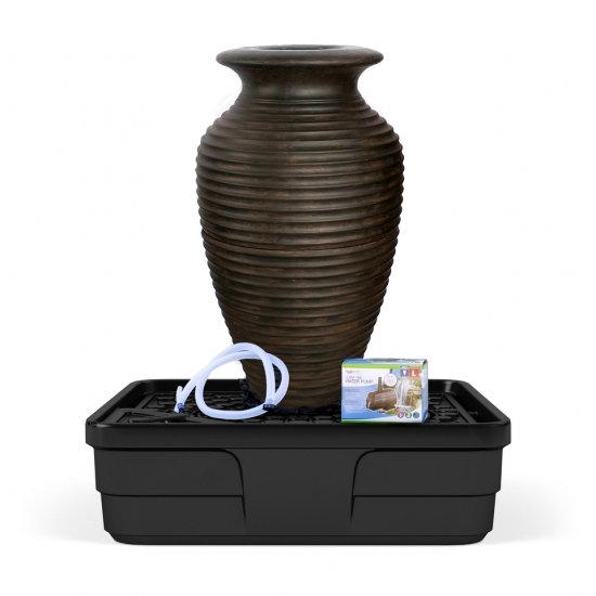 Medium Rippled Urn Landscape Fountain Kit