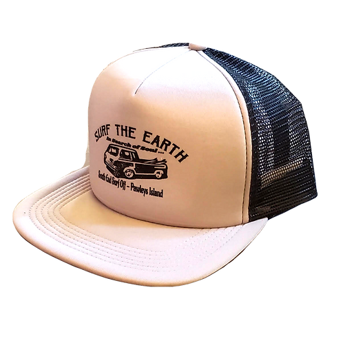 Surf The Earth Classic Trucker Hat - Truck Wh/Bk