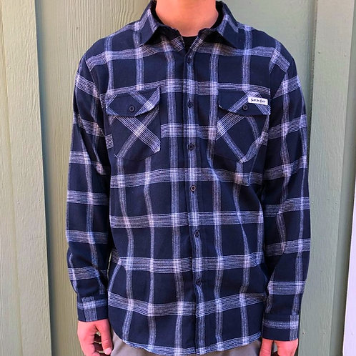 Surf The Earth Navy Flannel