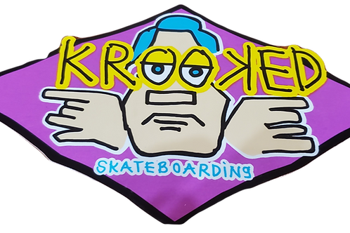 Krroked Skateboard sticker