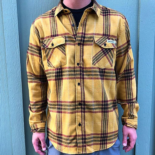 Surf The Earth Mustard Flannel
