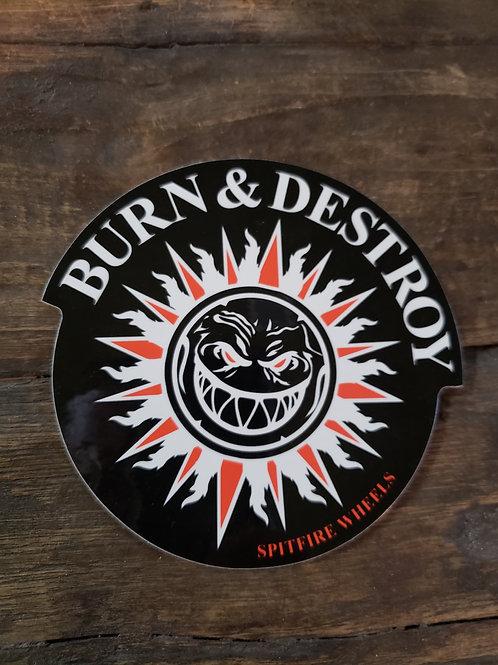Spitfire Burn& Destroy Sticker