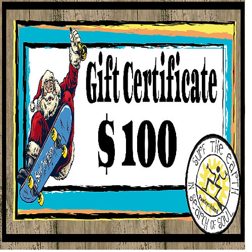 Surf The Earth Gift Certificate - $100