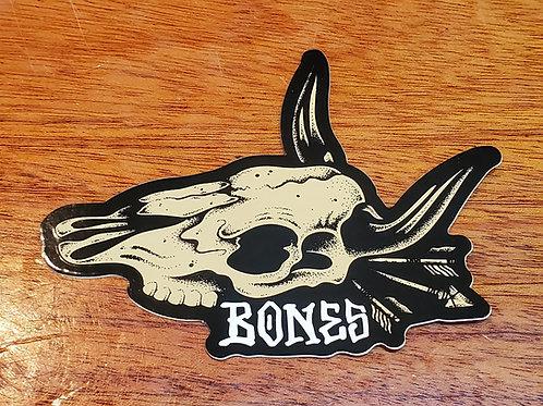 Bones Skate Cow Skull