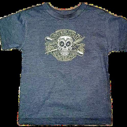 Surf The Earth Toddler T-Shirt - Skull