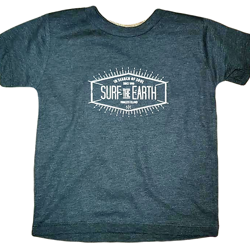Surf The Earth Toddler T-Shirt - Blackwater