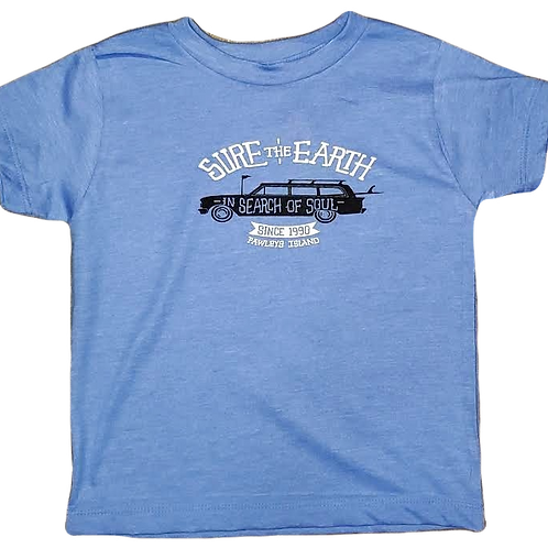 Surf The Earth Toddler T-Shirt - Wagon Blue