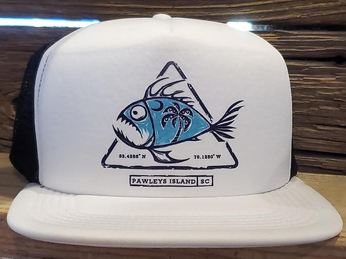 PI-Fish Trucker Wh/Blk
