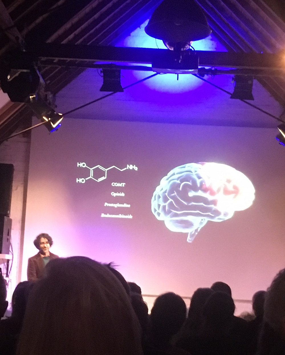 Dr Ash Ranpura speaking about The Placebo Effect at Ebenezer Presents in Somerset