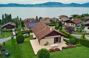immobilier, lac leman, saint-gingolph, haute-savoie, france, vue lac, belle vue sur le lac, appartement indépendant, trois chambres, garage, agent immobilier, agence, frontière suisse, frontaliers
