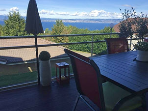 real estate, haute savoie, france, lac leman, lake geneva, evian, lake view, balcony, terrace, apartment, three bedroms, four rooms, garage, neighborhood, agent, agency, English, for sale