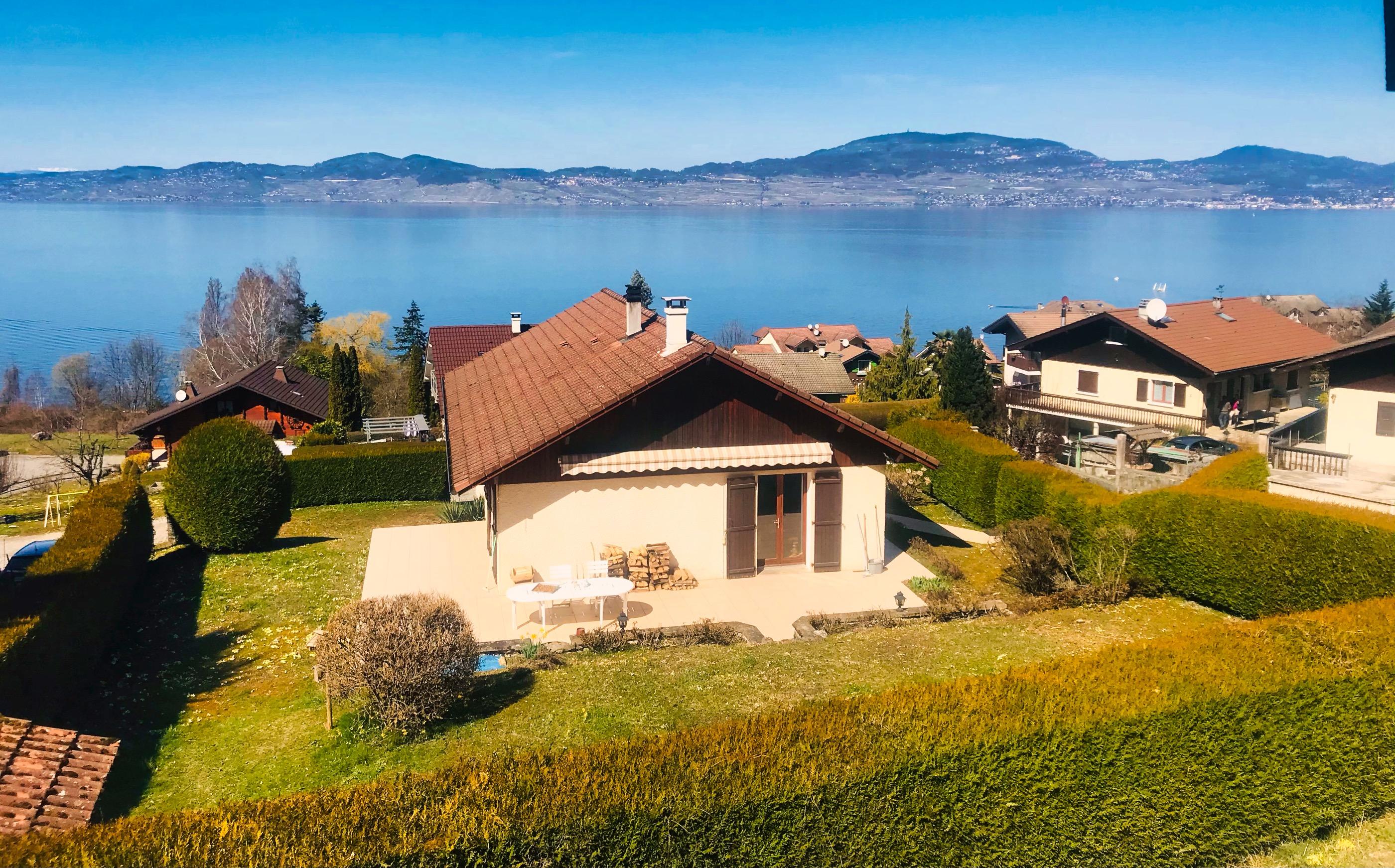 house with lake view saint gingolph haute savoie lac leman