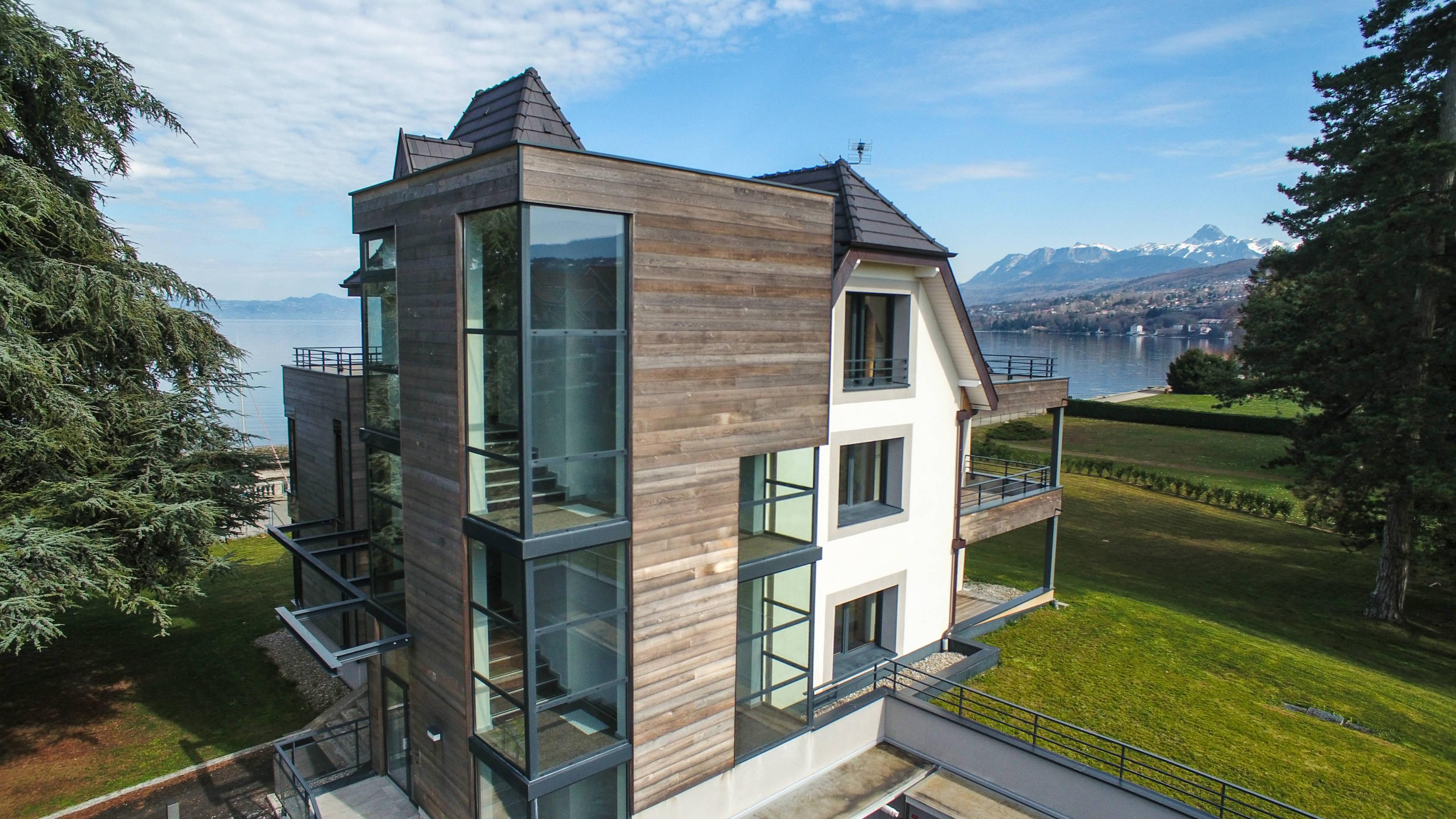 Luxury Real Estate on Lake Geneva Evian - Lakefront Villa with Panoramic Views
