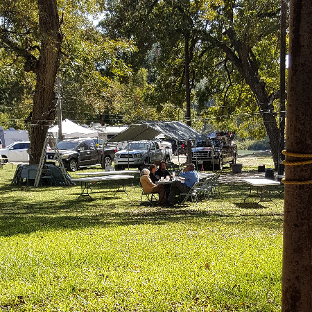 A lazy day under the pecan trees at Morgan Shady Park.