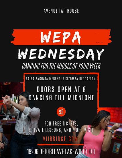Admit 1:  Wepa Wednesday