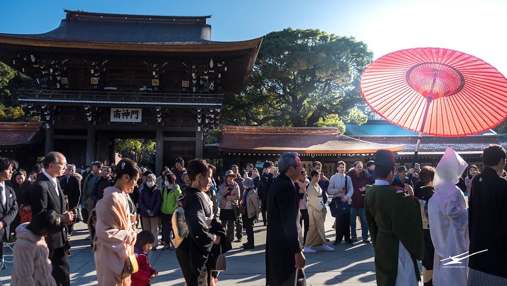 Traditional Shinto wedding at Meiji Jingu shrine