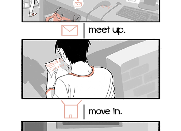 MEET UP. MOVE IN. MAKE OUT comic