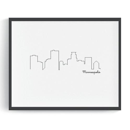 Minneapolis Skyline Printable Art