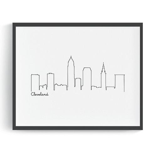 Cleveland Skyline Printable Art