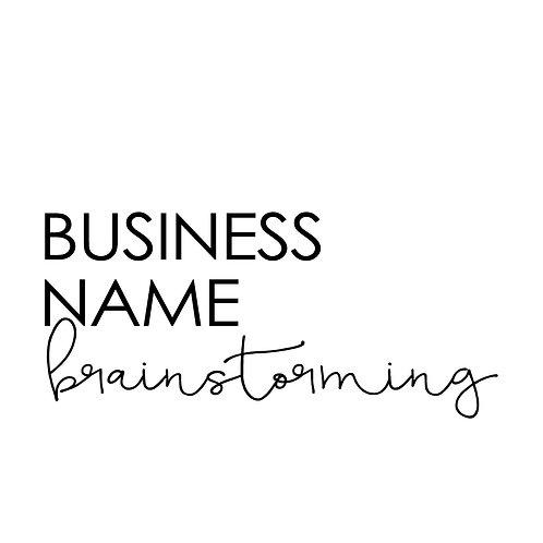 Business Name Brainstorming