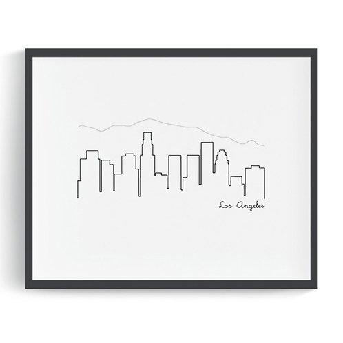 Los Angeles Skyline Printable Art