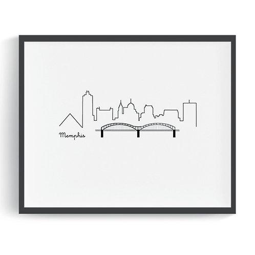 Memphis Skyline Printable Art