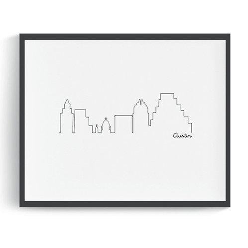 Austin Skyline Digital Art Print