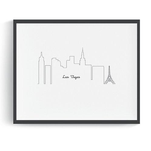 Las Vegas Skyline Digital Art Print