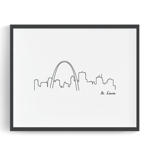 St. Louis Skyline Printable Art