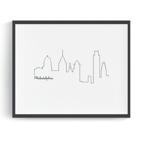 Philadelphia Skyline Printable Art