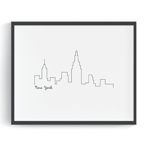 New York City Skyline Printable Art