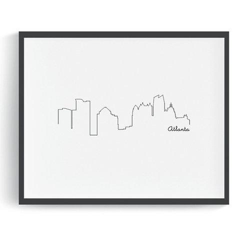 Atlanta Skyline Digital Art Print
