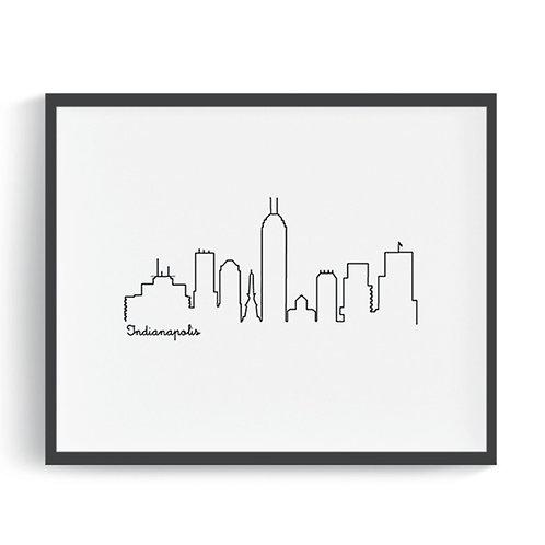 Indianapolis Skyline Printable Art