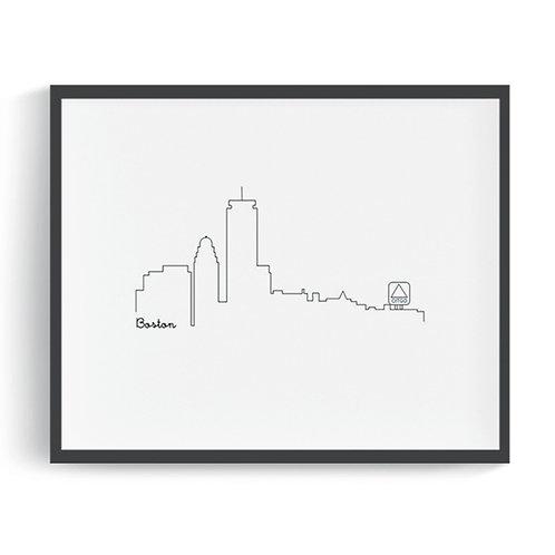 Boston Skyline Printable Art