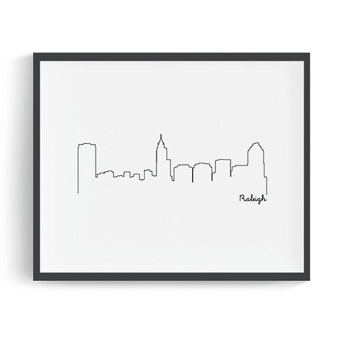 Raleigh Skyline Printable Art
