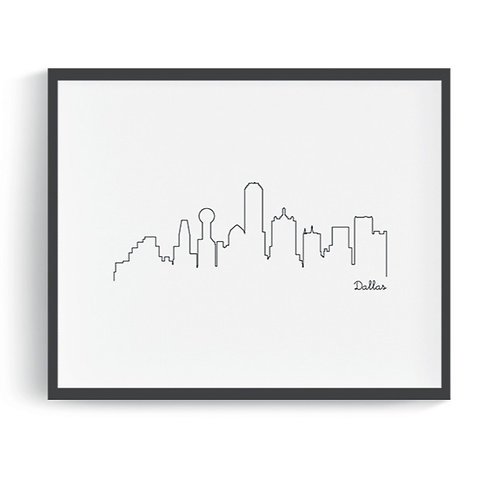 Dallas Skyline Printable Art