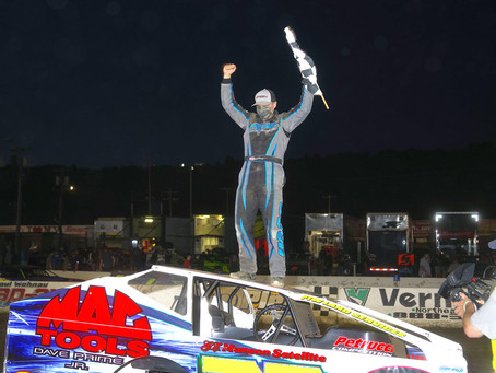 Brett Haas Wins Maiden Lebanon Valley Modified Feature