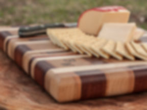 Cutting Board, end grain, butcher block, chacuterie board, chees board, padauk, maple, cherry, knife, crackers