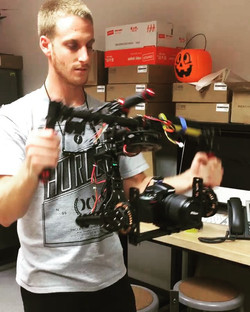 _chriszone220 expert engineer working on his 3-axis gimbal! (Camera stabilization device controlled
