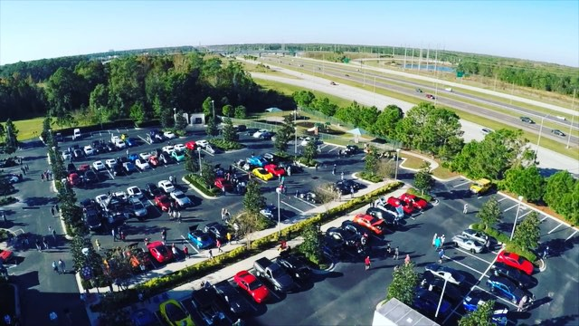 a true birds eye view! 👁 #florida #drone #orlandocarsandcoffee #ferrari 📽☀ ️