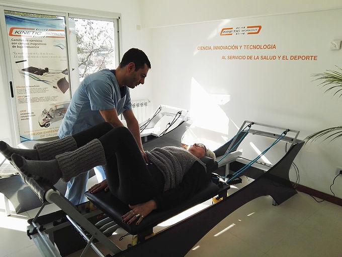 Rehabilitación física con magnetoterapia fría.