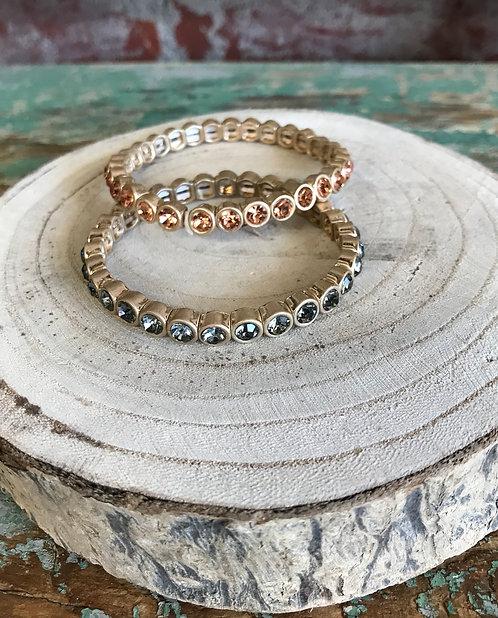 faceted jewel bracelet