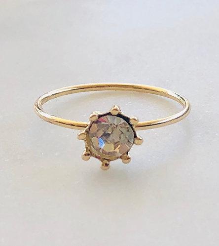 Cz sunburst ring