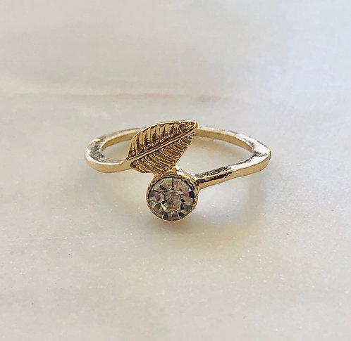 leaf cz ring